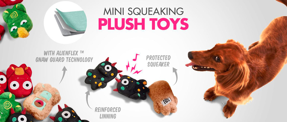 Mini Squeking Dog Toys